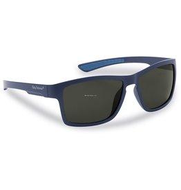 Flying Fisherman Flying Fisherman 7863NS Tiki Polarized Sunglasses, Matte Navy Frames, Smoke Lens
