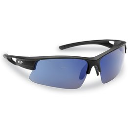Flying Fisherman Flying Fisherman 7871BSB Moray Polarized Sunglasses, Matte Black Frames, Blue Mirror Lens