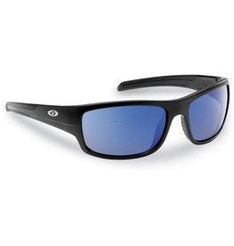 Flying Fisherman Flying Fisherman 7709BSB Shoal Polarized Sunglasses, Matte Black Frame, Smoke-Blue Mirror Lens
