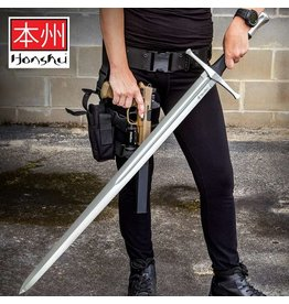 Honshu Honshu Broadsword With Scabbard - 1060 High Carbon Steel Blade, TPR Handle, Stainless Steel Pommel - Length 43 1/2""