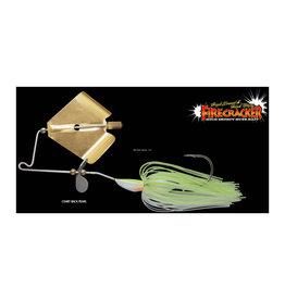 Jackall Jackall JFCRA38-CHBP Firecracker 3/8 oz. Buzz Bait Chart Back Pearl