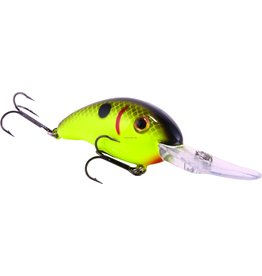"Strike King Strike King HC3XD-535 Pro Model 3XD Extra Deep Dive Rattle Crankbait, 3 1/4"", 7/16 oz, Black Back Chartreuse, Floating,1pk"