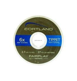 Cortland Cortland 605398 Fairplay Nylon Tippet 27yd 3X-7lb Clear