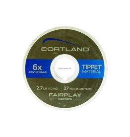 Cortland Cortland 605404 Fairplay Nylon Tippet 27yd 4X-6lb Clear