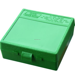 MTM Case-Gard MTM P-100-44-10 Case-Gard Ammo Box 100 Round Flip-Top 41 44 45 LC, Green