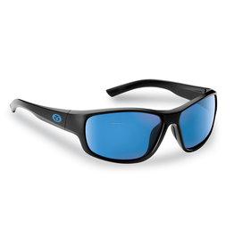 Flying Fisherman Flying Fisherman 7822BSB Teaser Polarized Sunglasses, Matte Black Frame, Smoke-Blue Mirror Lens