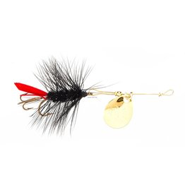 Joes Flies Joes 121-8 Short Striker Classic In-Line Spinner Fly, Sz 8, Black Woolly Worm (371468)