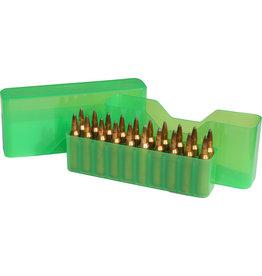 MTM Case-Gard MTM J-20-L-16 Slip-Top Ammo Box 20 Round 30-06 30-30 270 Win 308, Clear-Green
