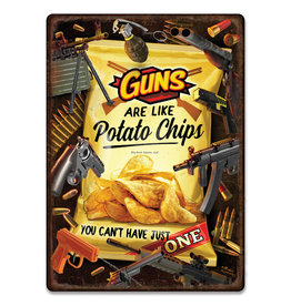 Rivers Edge Rivers Edge 2724 Tin Sign 12in x 17in - Guns Chips