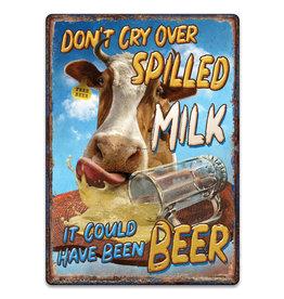 Rivers Edge Rivers Edge 2725 Tin Sign 12in x 17in - Milk Beer