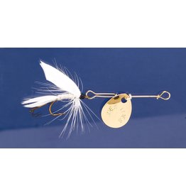 Joes Flies Joes 117-8 Short Striker Classic In-Line Spinner Fly, Sz 8, White Miller