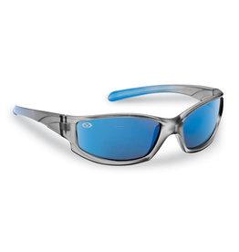 Flying Fisherman Flying Fisherman 7895GSB Buoy Jr Angler Polarized Sunglasses, Gray-Blue Frame, Blue Mirror Lens