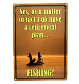Rivers Edge Fishing Tin Sign