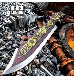 Black Legion Black Legion Aether Master Steamer Sword With Sheath - Stainless Steel Construction, Non-Reflective Coating, Raised Design - Length 24""