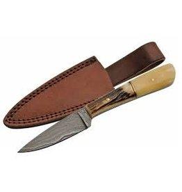 """Rite Edge Rite Edge 7"""" Stag/Bone Damacus Skinner Knife"""
