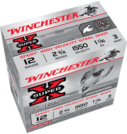 "Winchester 12GA Winchester Super X 2.75"" 1.1/16 OZ.#3 HV STEEL"