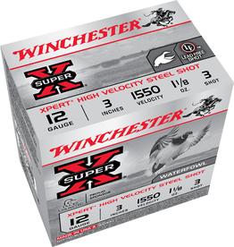 "Winchester 12GA Winchester Super X 3"" 1.1/8 OZ.#3 HV STEEL"