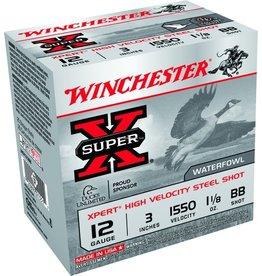 "Winchester 12GA Winchester Super X 3"" 1.1/8 OZ. BB HV STEEL WEX123BB"
