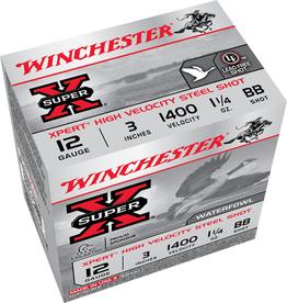 """Winchester 12GA Winchester Super X 3"""" 1.25 OZ. BB STEEL"""