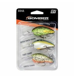 Bomber Bomber 3 Pack Of Crankbaits-MossBackCraw/FoxyShad/CreekCraw