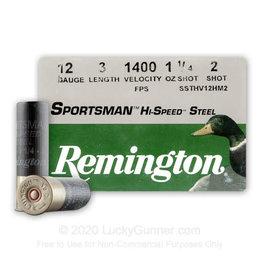 """Remington 12GA Remington Sportsman Hi Speed Steel 3"""" #2shot 1 1/4oz 1400 fps  20989"""