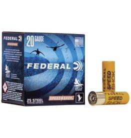 """Federal 20GA Federal SPEED-SHOK 2.75"""" 3/4.OZ #4 HV STEEL AMMO  WF2084"""