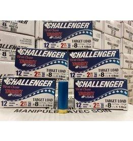 """Challenger 125 ROUNDS - Challenger Target Load 12GA 2 3/4"""" 1 1/8oz #8 (1/2Case)"""