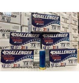 """Challenger 125 ROUNDS - Challenger Target Load 12GA 2 3/4"""" 1 1/8oz #7.5 (1/2Case)"""