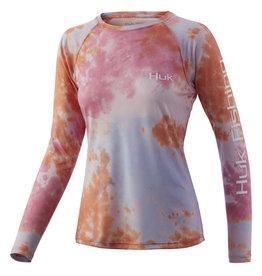 Huk Huk Womens Tie Dye Pursuit -XS- Pink Lady