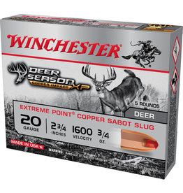 Winchester Winchester X20DSLF Deer Season XP Copper Slugs 20 ga 2 3/4 in3/4oz sabot slug copper impact 1600 fps 5 rd bx