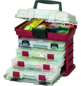 """Plano Plano 135402 Four-By-Drawer System 3500Sz Red/Sil 11x7x10"""" (682005)"""