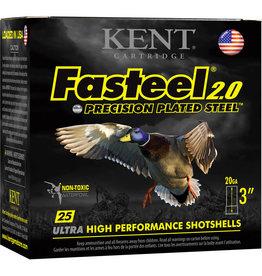"""Kent Cartridge 20GA Kent Faststeel 2.0 3"""" 7/8oz #4 1550FPS"""