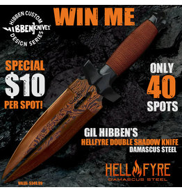Draw #091- Gil Hibben's Hellfyre Double Shadow Knife- $10 Special
