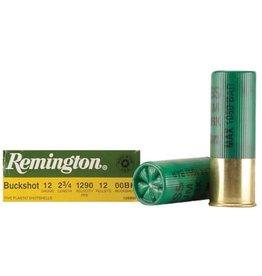 "Remington Remington Buckshot 12GA 2 3/4"" 1290fps 12 Pellets 00BK"