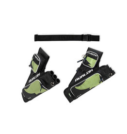 AVALON ARCHERY Avalon Classic Hip Quiver 3 Tube With Belt / Pockets - Black/Green RH
