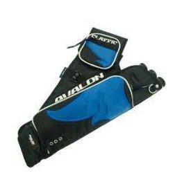 AVALON ARCHERY Avalon Classic Hip Quiver 3 Tube With Belt / Pockets - Blue RH