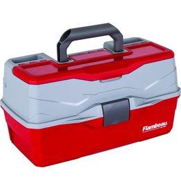 Flambeau Flambeau 6383TB 3-Tray Hard Tackle Box- Red, w/Flip-top lid accessory compartment (240007)