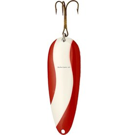"""Lucky Strike Lucky Strike H117450-34 Heavy Devil Bait Spoon- 4.5"""",2 oz, Red/White"""