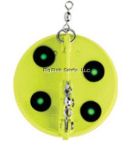 "Luhr Jensen Luhr Jensen 5560-001-1601 Dipsy Diver 4-1/8"" 50' Flo Chartreuse/Green UV (5327561-1601)"