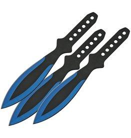 "China Made Throwing Knife Set - Blue 9"""