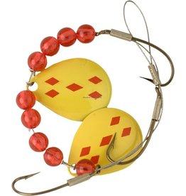 Lucky Strike Lucky Strike 701112-26 Crawler Harness Yellow/Red Diamond (5325701-26)