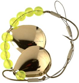 Lucky Strike Lucky Strike 701112-48 Crawler Harness Colorado Blade 1pk Gold/Yellow Beads (5325701-48)