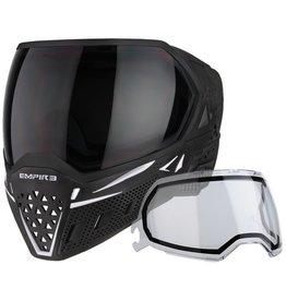 Empire Empire EVS Mask - Black/White with Ninja & Clear Lenses