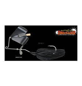 Jackall Jackall JFCRA12-MBLK Firecracker 1/2 oz. Buzz Bait Midnight Black