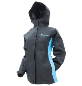 Frogg Toggs Frogg Toggs SW62523-114LG Women's StormWatch Jacket | Black / Turquoise | Size LG