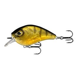 """13 Fishing 13 Fishing FD65-6-65 Flatty Daddy - Flat Sided Crankbait - 2.5"""" - 1/2oz - Clear Perch"""