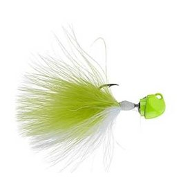 Freedom Lures Freedom Tackle Marabou Jig 1/4 oz Chartreuse/White