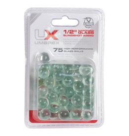 """Umarex Umarex 2219004 Slingshot Ammo 1/2"""" Hardened Glass Ammo 75Ct"""