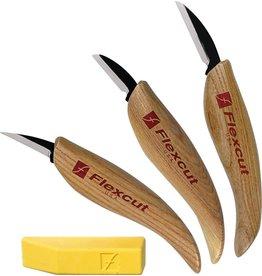 Flexcut Tool Company Inc. 3 KNIFE STARTER SET - FLEXCUT CARVING KNIVES
