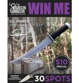 Draw #180- Gil Hibben Survival Tanto & Komoran Titanium Folding Knife $10 Special!!!